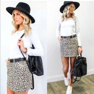 Dresses & Skirts - Sweet spot leopard jean skirt